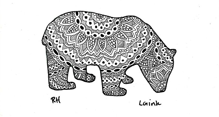 panda zentangle motive - Zentangle motives