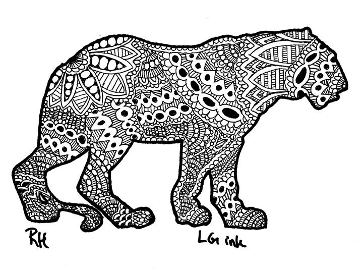 tiger zentangle motive - Zentangle motives