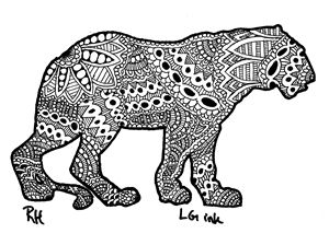 tiger zentangle motive