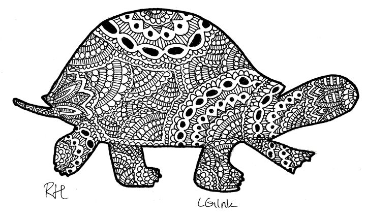 turtle zentangle motive - Zentangle motives