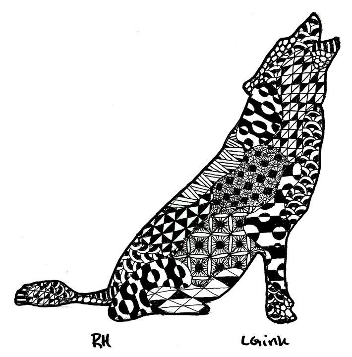 wolf zentangle motive - Zentangle motives
