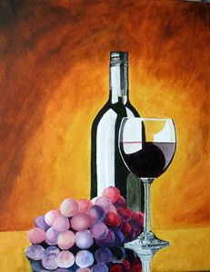 Red Wine and Grapes - BrandyCraft