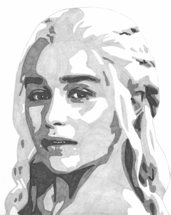 Daenery Game of Thrones Sketch - FivebyFiveCards