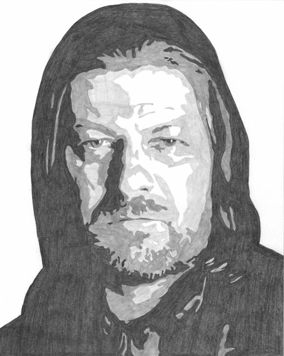 Ned Stark Game of Thrones Sketch - FivebyFiveCards