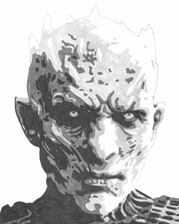 Night King Game of Thrones Sketch - FivebyFiveCards