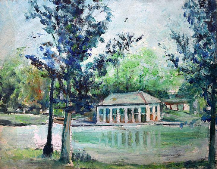 Boat House at Wasington park - Blossart