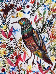 Bird Flowers Oiseau