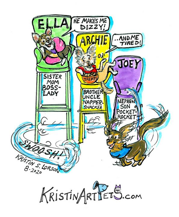 Ella, Archie and Joey - KristinArtPets and more By Kristin Lorson