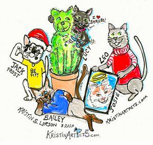 Cats! KristinArtPets.com