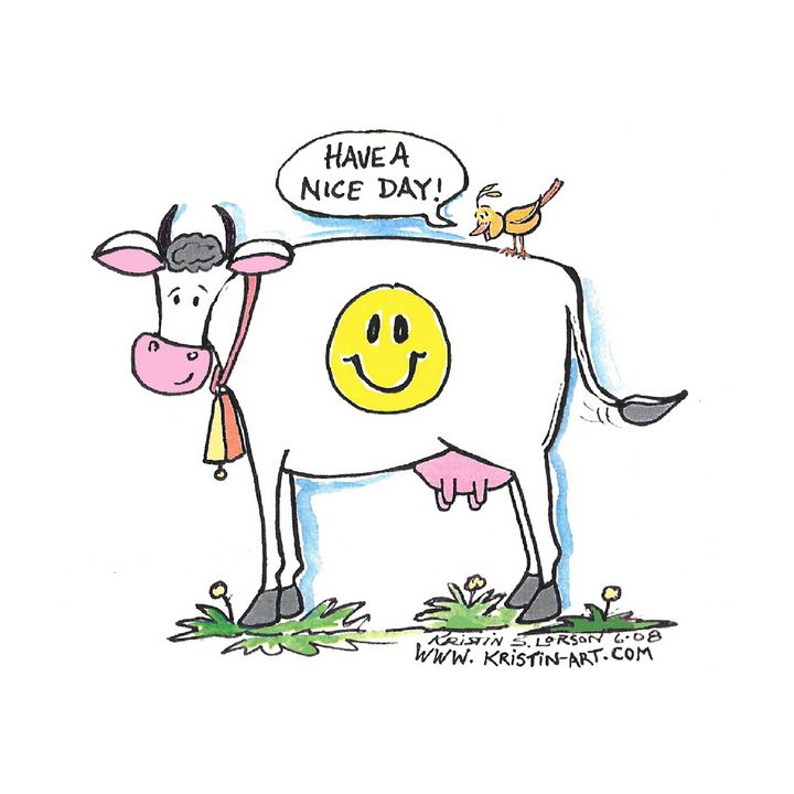 Have a nice Day Cow - Kristinart Personality Portraits By Kristin Lorson