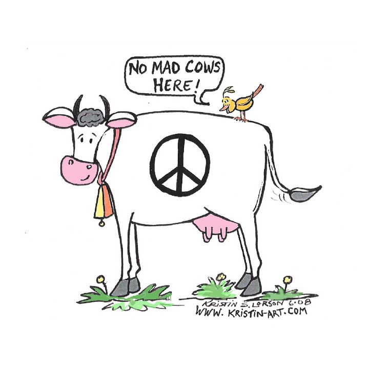 Peace Cow - Kristinart Personality Portraits By Kristin Lorson