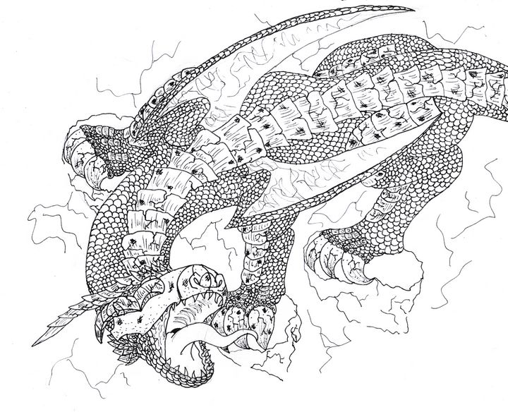 Cliff Gliding Dragon - M.RArts