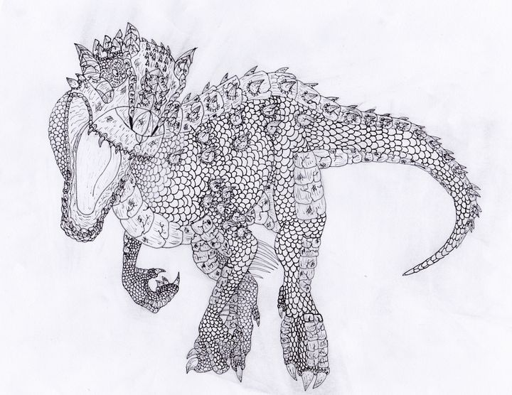 Another Breed Of Indominus M Rarts Drawings Illustration Animals Birds Fish Dinosaurs Other Dinosaurs Artpal
