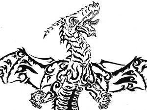 Tribal Dragon - M.RArts