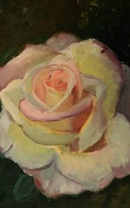Oil Painting of Rose