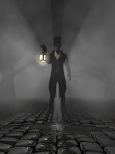 The man with the lantern