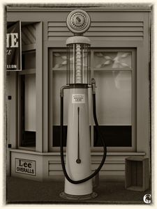 Gas pump sepia