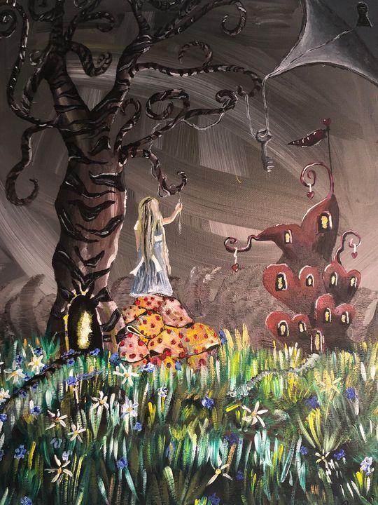 Alice in wonderland - Raven stola