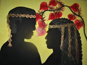 Nubian King and Queen Silhouette