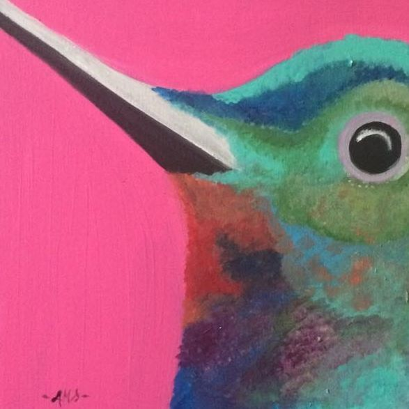 Humming bird - The Art Wall by Ashley Marie Singh