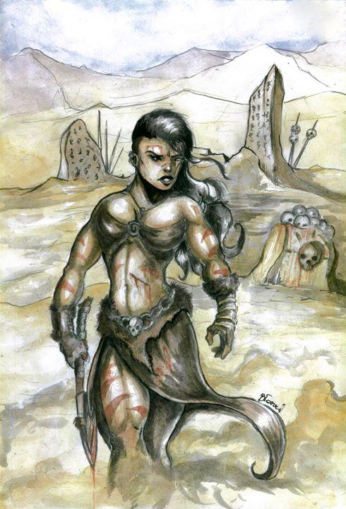 Female Barbarian - Blaszczec Art
