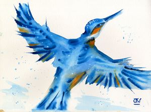 Kingfisher~ Splash of Happiness