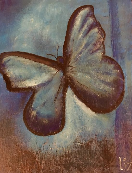 Blue Butterfly - Discover Color by Liza