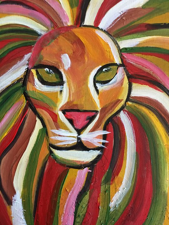 The Brave Lion - Discover Color by Liza
