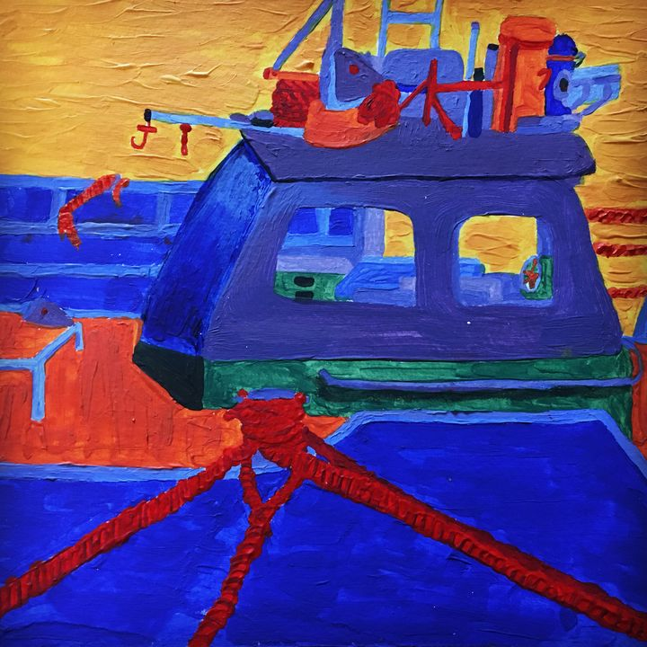 Into Harbour - Life in Acrylic