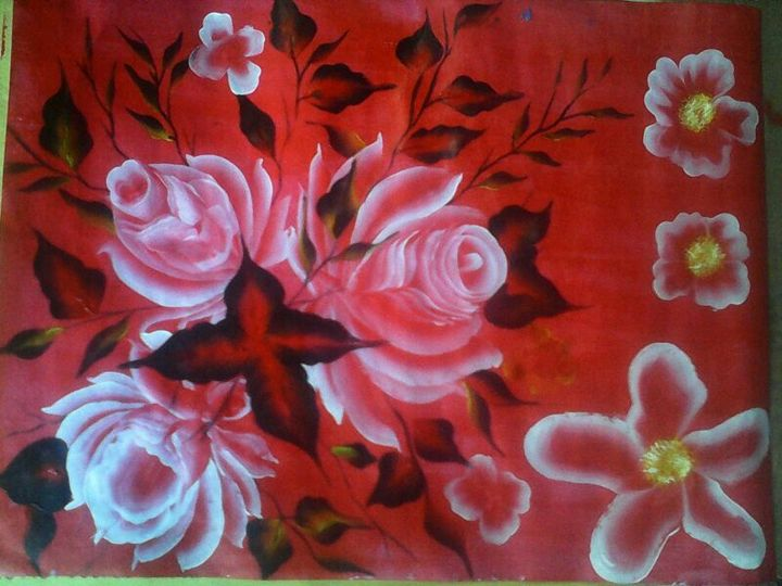 Red Flowers - Lucy Ogongo