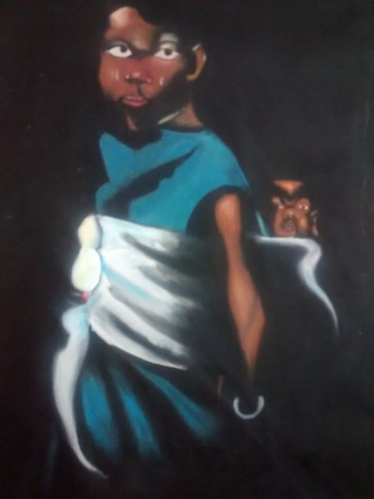 Woman with child - Lucy Ogongo