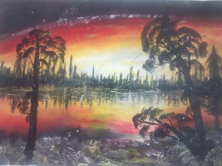 Sunset by the river - Lucy Ogongo