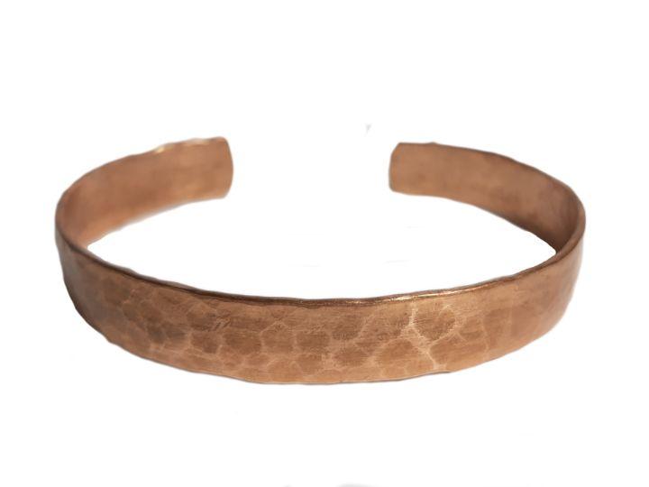 Minimalist Hammered Copper Bracelet - Florica Jewelry & Masks