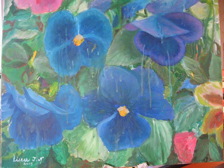 Blue pansies - Linn J.N