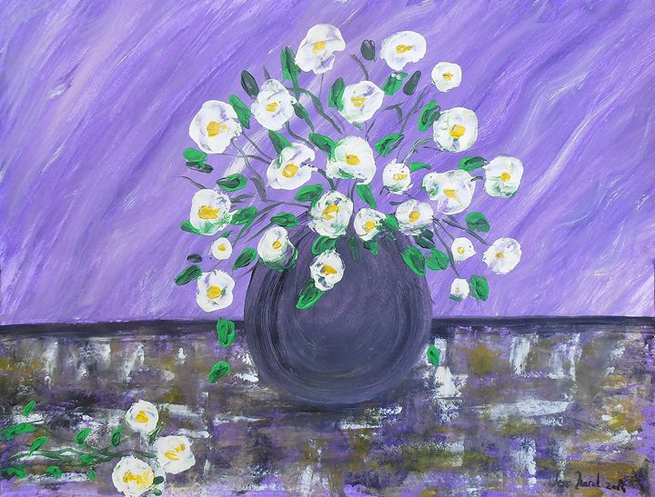 Bouquet on Purple Background - Abstractitude