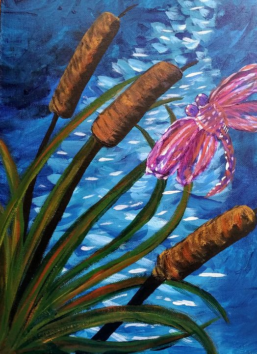 Dragon fly - Coffee and tiaras paintings