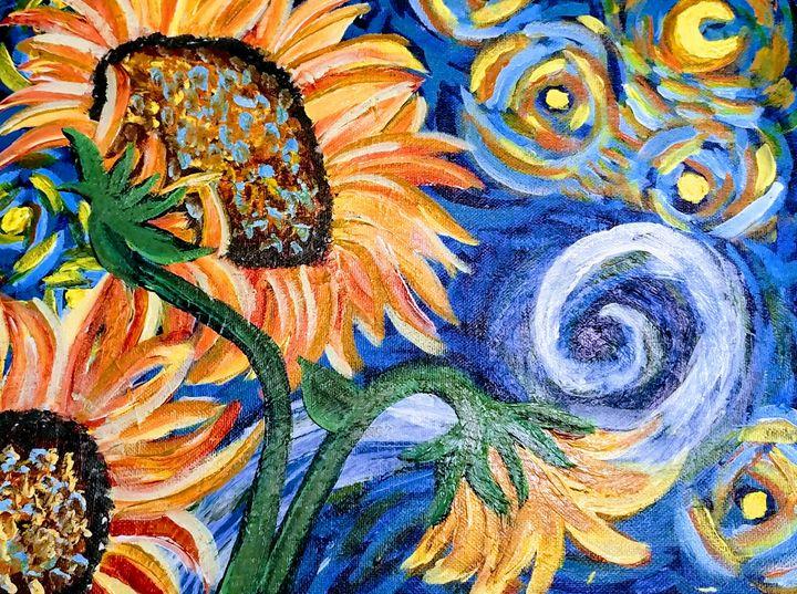 Sun flowers - Coffee and tiaras paintings