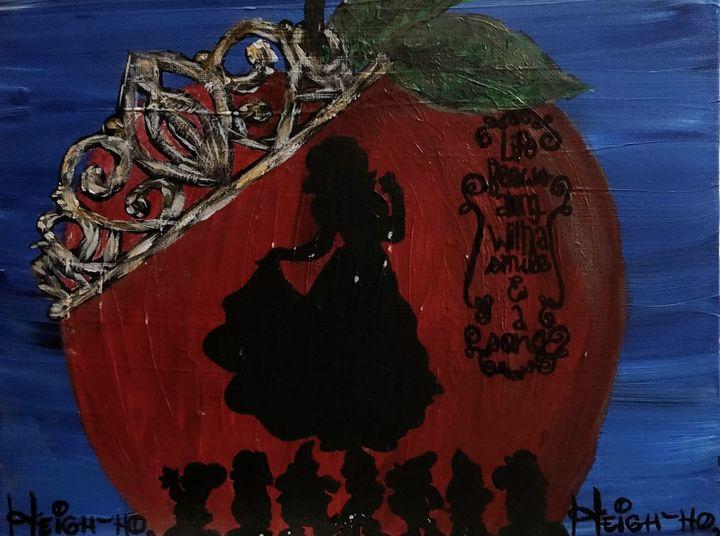 Snow white - Coffee and tiaras paintings