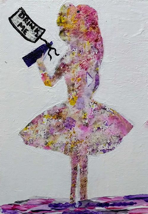 Alice - Coffee and tiaras paintings