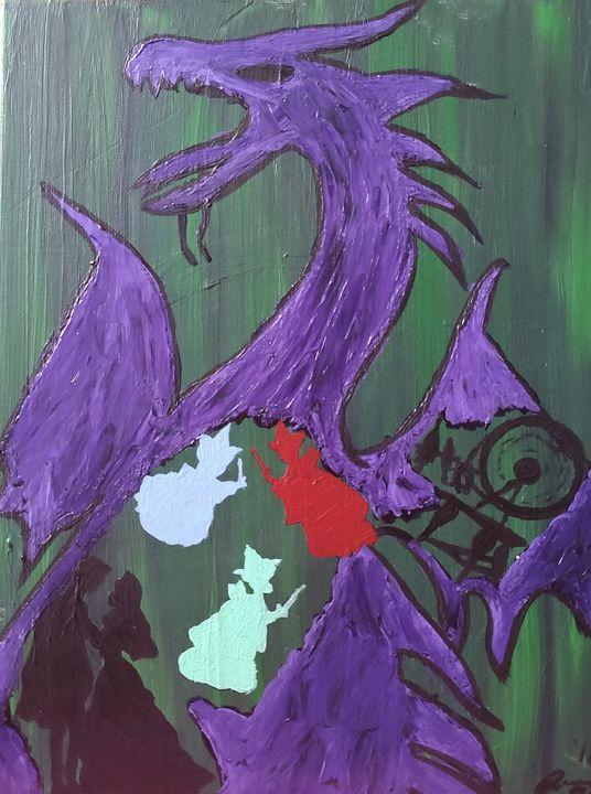 Sleepless dragon - Coffee and tiaras paintings
