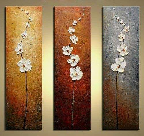 Flower oil painting - Multi Art