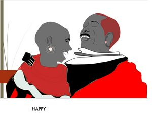 A HAPPY MAASAI COUPLE