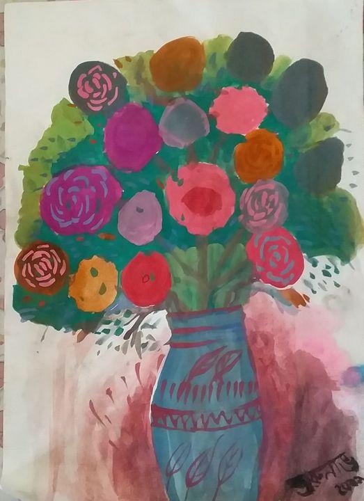 Painting of a Flower Vase - Arunabh Chakravorty