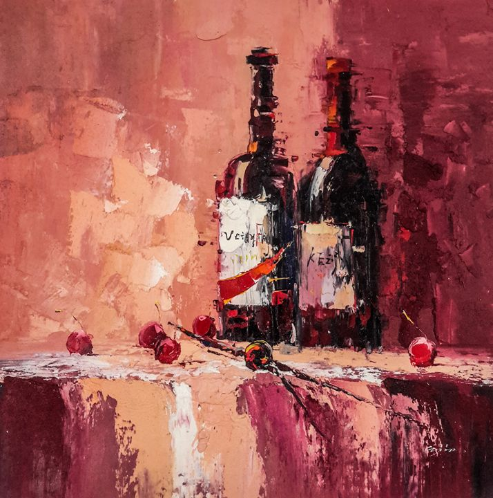 Wine Bottles - Paint Our Days