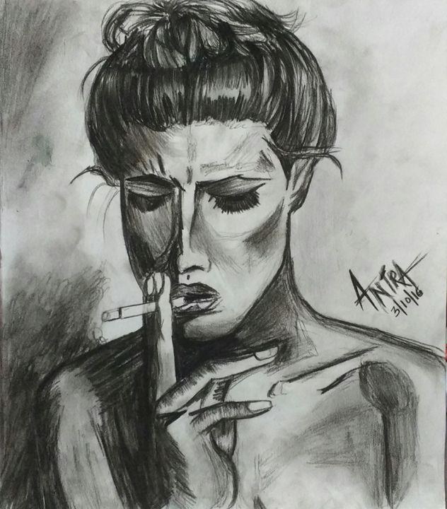 Original Sketch of women - Art by Antra Kaushal
