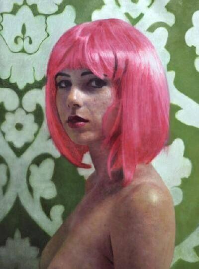 Harriet with Pink Hair - 101artgalleries