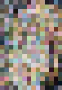Flowing pointillism of nude female - BlueRidge Fine Arts