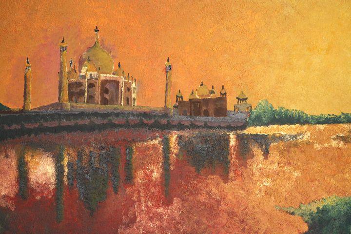 Taj Mahal bathed in evening sun - BlueRidge Fine Arts