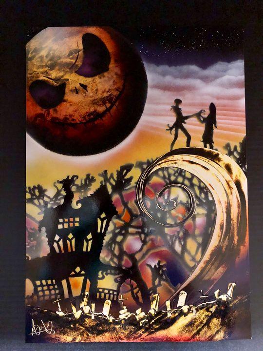 The Nightmare Before Christmas Spray - LV Spray Paintings