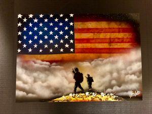Original Military Spray Paint Art